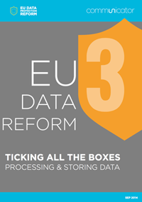 EU Data Reform: Processing and storing data