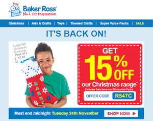Companies Using Festive Discount Coupons in Emails, And What You Can Learn From Them